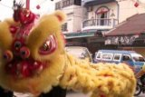 Perayaan Imlek di Meral Karimun Dengan Barongsai