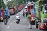 Ratusan kendaraan angkutan batu bara ditilang