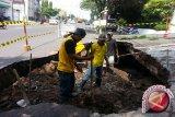 Penutupan jalan perbaikan drainase Babaran tiga tahap