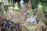 Pemotongan Lopis Raksasa Meriahkan Tradisi Syawalan di Pekalongan