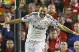 Cetak dua gol,  Benzema antar Real Madrid tundukkan Girona