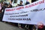 Jurnalis demo sikapi arogansi Sekprov Lampung