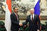 Putin juga beri ucapan selamat kepada Jokowi