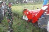 Babinsa Merauke dampingi petani saat pelatihan mesin mini combine