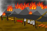 Kata polisi tak ada unsur kesengajaan pada kebakaran Pasar Pon