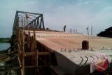 Pembangunan jembatan kenten Banyuasin pengerjaannya dipercepat