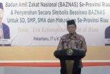 BAZNAS Riau himpun Rp265,650 juta zakat, salah satunya dari Gubernur