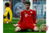 Mueller cetak gol saat Bayern tundukkan Gladbach