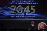 Direktur Eksekutif The Yudhoyono Institute Agus Harimurti Yudhoyono berpidato saat peluncuran The Yudhoyono Institute di Jakarta. The Yudhoyono Institute diluncurkan untuk melahirkan generasi masa depan dan calon pemimpin bangsa yang berjiwa patriotik, berakhlak baik dan unggul. (ANTARA FOTO/Puspa Perwitasari/Dok).