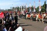 Bendera Pusaka Diarak Dari Monas Hingga Istana Merdeka
