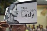 Demo Bela Rohingya di Kedubes Myanmar