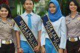 Sepasang Pelajar SMA Negeri 2 Pekanbaru Terpilih Jadi Duta Lantas