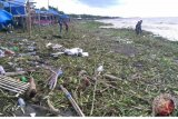 Pantai Tanjung Bayang Makassar Dipenuhi Enceng Gondok