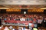Peserta Sidang Majelis Sinode GMIM  deklarasi menolak Hoax