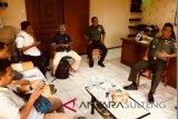 Kasrem Tadulako tatap muka dengan wartawan