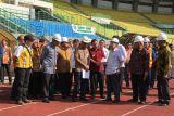 Wapres cek perbaikan stadion Bekasi untuk Asian Games