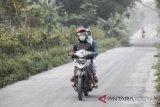 Sebagian wilayah Srumbung Magelang diterjang hujan abu