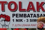 Anggota outlet seluler Palembang demo ke Jakarta