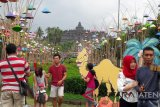 Pengunjung Candi Borobudur capai 56.171 wisatawan