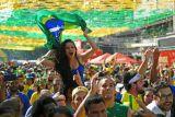 Galeri foto Piala Dunia: Kemenangan Brasil dan aksi Neymar