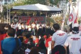 Ribuan relawan deklarasi dukungan kepada Jokowi-Ma`ruf