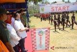 BUMN Hadir - Gerak jalan perjuangan disambut hangat masyarakat Natuna