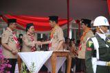 Menko PMK hadiri upacara Hari Pramuka ke-57