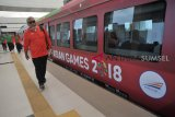 Atlet dan ofisial Asian Games jajal LRT