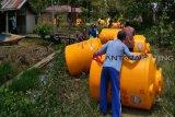 Puluhan tandon dibagikan untuk masyarakat pesisir Kotim dengan tujuan ini