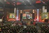 Presiden RI Joko Widodo membuka muktamar Ikatan Dokter Indonesia ( IDI) XXX dan Ikatan Istri Dokter Indonesia ( IIDI) XXI di Gedung Convention Hall, Samarinda, Kamis ( 25/10)