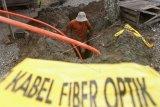Jaringan fiber optik terputus di Sulsel kualitas layanan data menurun