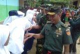 Perwira tinggi Mabes TNI AD motivasi pelajar SMPN 5 Lengayang Pesisir Selatan