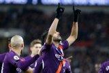 Mahrez lakukan gestur selebrasi gol kenang mendiang bos Leicester City