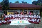 Aqua Solok kampanyekan cuci tangan pakai sabunkepada siswa SD