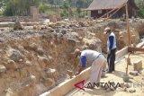 Pemasangan talut Situs Liyangan gunakan batu baru sekitar 35 persen