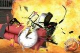 Diduga bom bunuh diri meledak di Pospam 1 Tugu Kartasura Sukoharjo