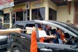 Tersangka perampokan mobil kas Bank Mandiri jalani rekonstruksi