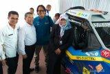 Tim ekspedisi mobil listrik disponsori PLN tiba di Padang