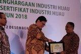 Pabrik Aqua Solok raih penghargaan Industri Hijau 2018
