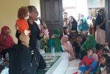 Kak Agus DS Hibur Ratusan Anak PAUD Salo-Kampar