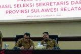 Gubernur Sulsel tandatangani tiga calon sekda hasil seleksi