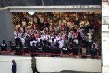 Pendukung pasangan capres-cawapres mulai berdatangan ke Bidakara