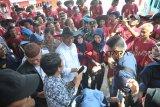 Tinjauan Menhub ke Dermaga 16 Ilir Palembang