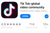 Parlemen India minta pemerintah blokir TikTok