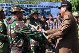 Di Kota Magelang, TMMD bangunkan talud pencegah longsor