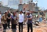 Presiden Jokowi tinjau lokasi bom Sibolga