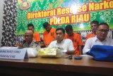 Waduh, Polda Riau temukan 3 Kilo sabu-sabu di teh kaisar Tiongkok