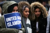 Para perempuan diserang dalam acara anti-Islamfobia