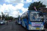 Ongkos angkutan BRT di Baturaja dibayar dengan sampah