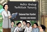 Melalui akun twitter, Presiden Jokowi ucapkan selamat Hari Kartini